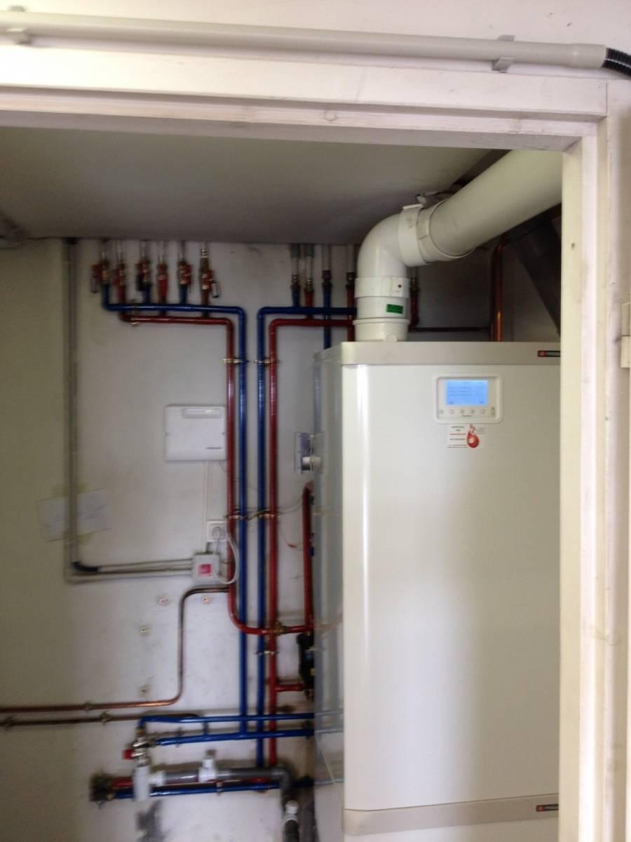 Installation Chaudière À Condensation installation d'une chaudière gaz à condensation frisquet